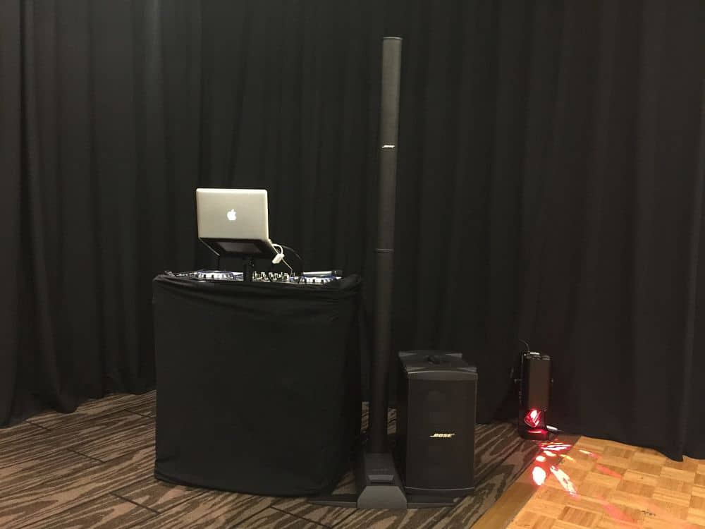 Novotel Hamilton Tainui - Dj Equipment Set Up in Union Function Room