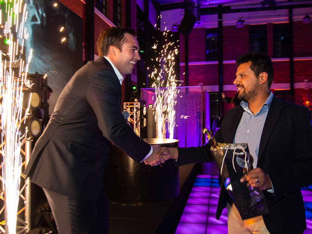 The Atrium - Guest present an award at corporate event