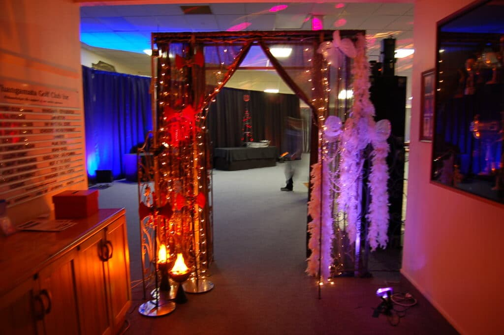 Whangamata Golf Club - School Ball Entrance Decorations
