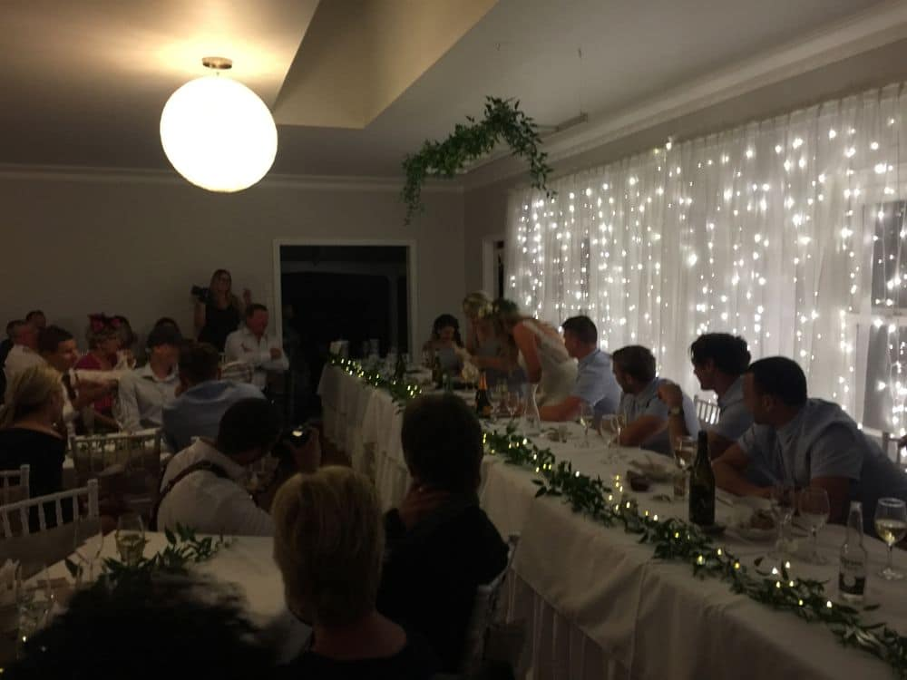Olive Tree Cottage Tauranga - Wedding Reception, Bridal table with Guests