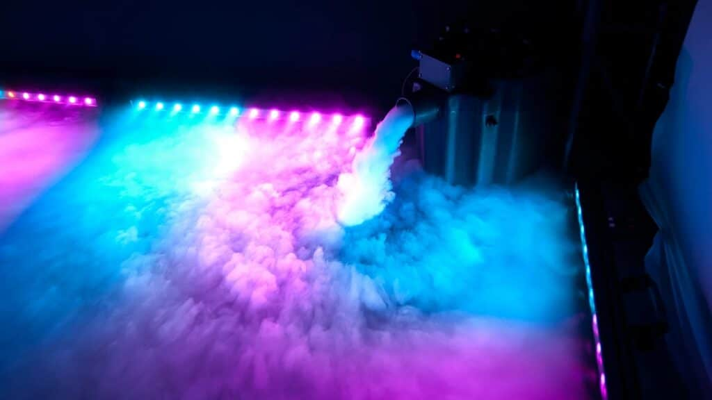 fog machine hire dry ice chauvet nimbus
